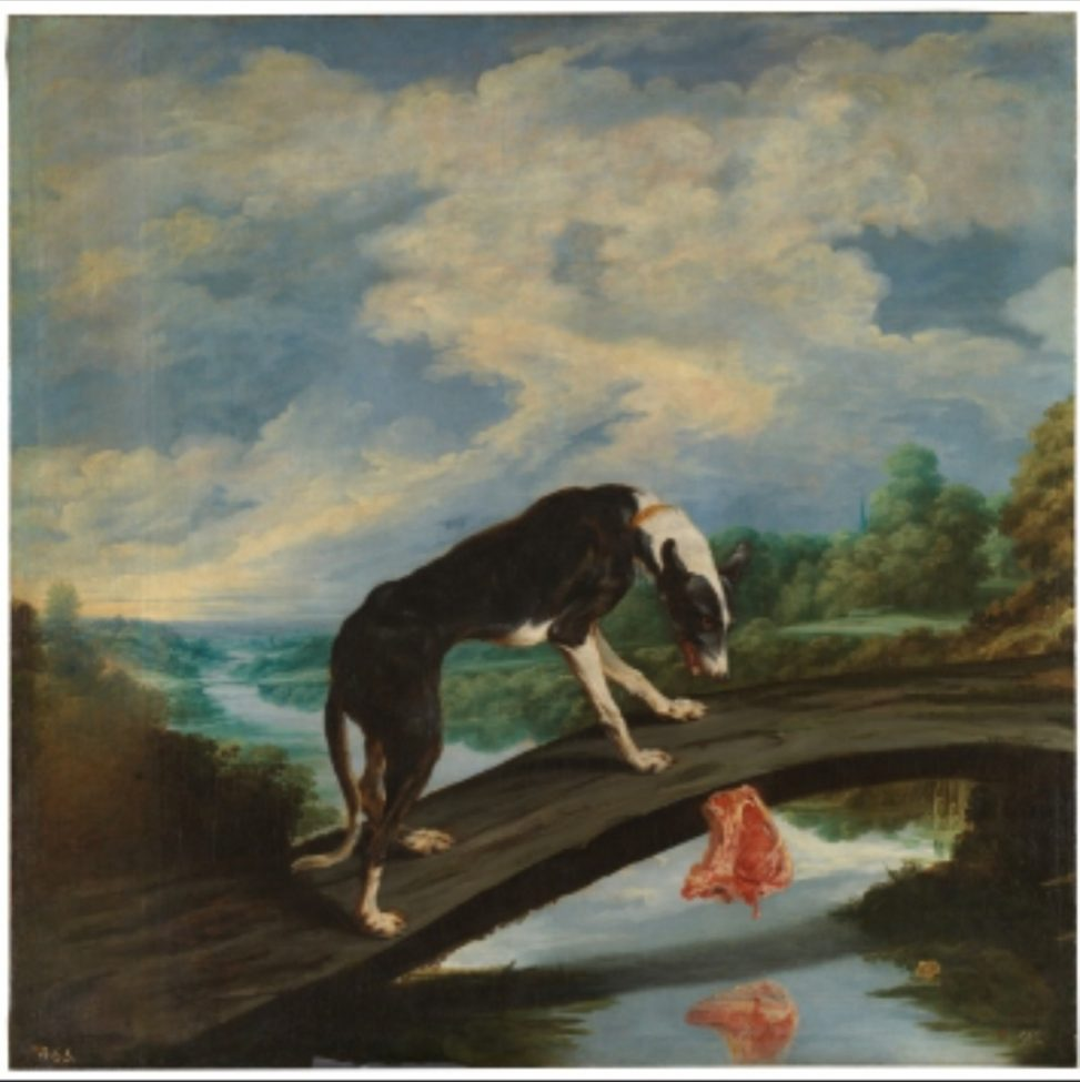 Fabula El perro y su presa